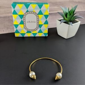 Stella and Dot Pearl Spiked Cuff Bracelet